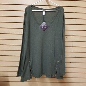 Olive green long sleeve shirt